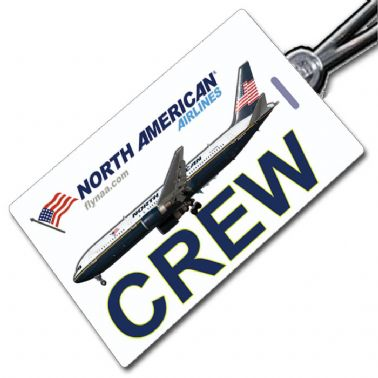 North American Airlines 767 Crew Tag